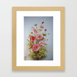 Japanese anemones Framed Art Print