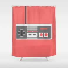 #48 NES Controller Shower Curtain