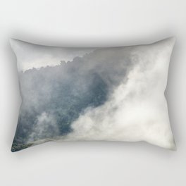 Foggy sunrise at the mountains. Autumn dreams Rectangular Pillow