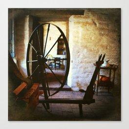Watchin' the wheels Canvas Print