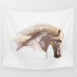 Silverwind - A Pegasus Stallion Study Wall Tapestry