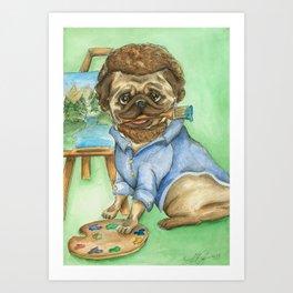 Pug Ross Art Print