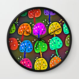 Colourful Forest Wall Clock