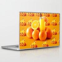orange pattern Laptop & iPad Skins featuring Orange Pattern by Azeez Olayinka Gloriousclick