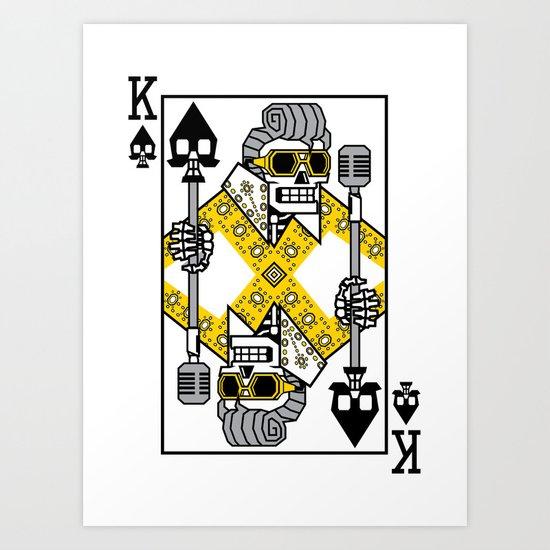 Dead King Card Art Print