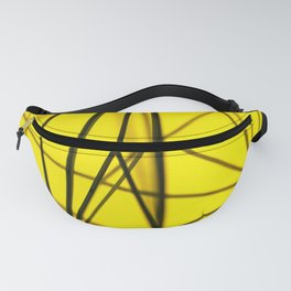 Black Lines on Yellow Background Fanny Pack