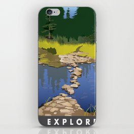Explore Rock Lake iPhone Skin