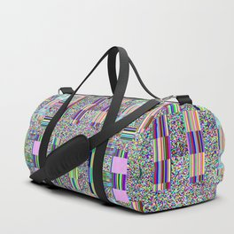 Glitch effect psychedelic background. Duffle Bag