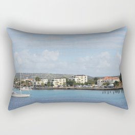 Bonaire Kralendijk Harbor Sailing Boats Rectangular Pillow