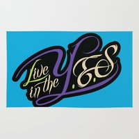 inception Area & Throw Rugs featuring YES InCEPTIOn by LiveInTheYES