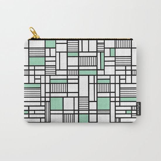 Map Lines Mint Carry-All Pouch