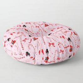 Candy Cane Girl Floor Pillow