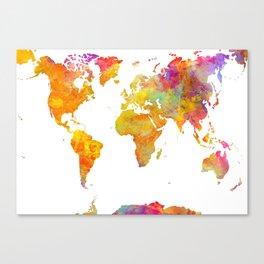 world map 23 Canvas Print