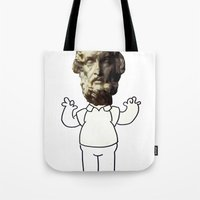 homer Tote Bags featuring HOMER simpson by sharon