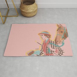 Woman with Horse #1 Rug