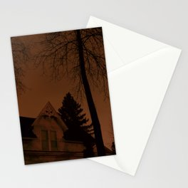 Shadowy house Stationery Cards
