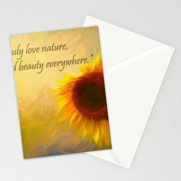 Sunflower Love Stationery Cards