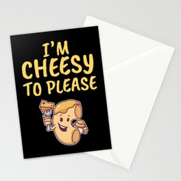 I'm Cheesy To Please Macaroni Cheese Pasta Mac And Cheese Stationery Cards