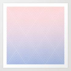 Diamonds (RoseQuartzSerenity Fade) Art Print