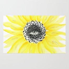 The Sunflower Eye Rug