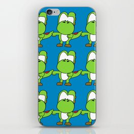 Custom Cartoon  Blue Yoshi Wallpaper iPhone Skin