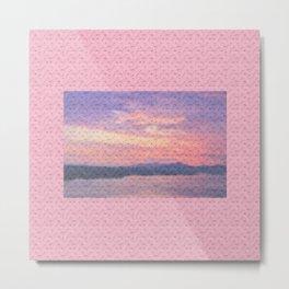 Pastel sunset in roses Metal Print