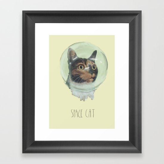 Space Cat Framed Art Print