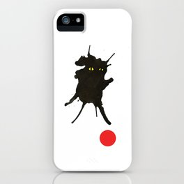 cat with ball #2 iPhone Case