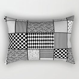 Black patterns in rectangles and squares Rectangular Pillow