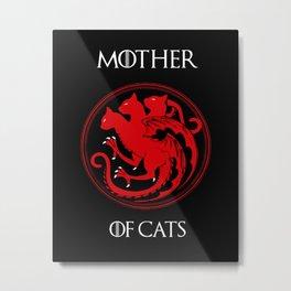 Mother of Cats Metal Print