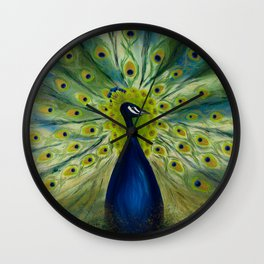 MONSIEUR PEACOCK Wall Clock