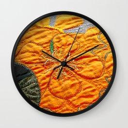 Nasturtiums I Wall Clock