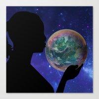 bubble Canvas Prints featuring Bubble by Cs025
