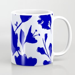Floral Blue Shadow Coffee Mug