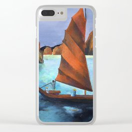 Junks In the Descending Dragon Bay Clear iPhone Case