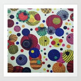 Running around in Circles Art Print