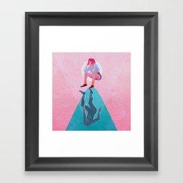 Fallen Into The Hypothetical Well Framed Art Print