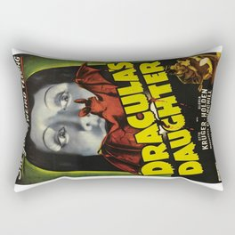 Dracula´s Daughter, vintage horror movie poster Rectangular Pillow