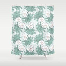 Fern-tastic Girls in Sage Green Shower Curtain