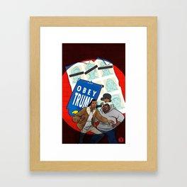 Days Of Future Trump Framed Art Print