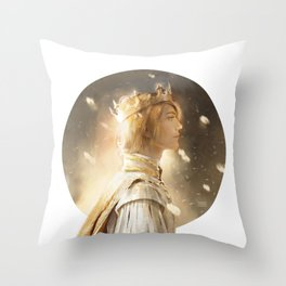 Golden King Throw Pillow