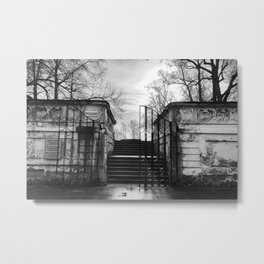 Krumlov Castle Garden Metal Print