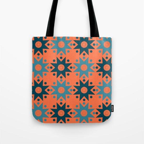 Pattern orange blue Tote Bag