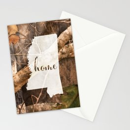 Mississippi is Home - Camo Stationery Cards