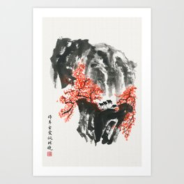 Maple woods Art Print