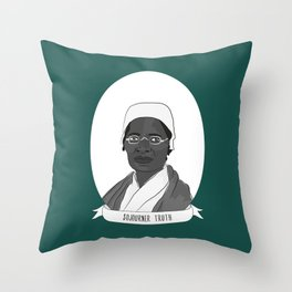 Sojourner Truth Illustrated Portrait Throw Pillow