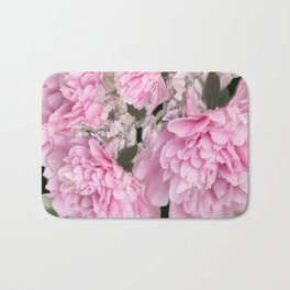 Pink Bouquet On A Black Background  #society6 #buyart Bath Mat