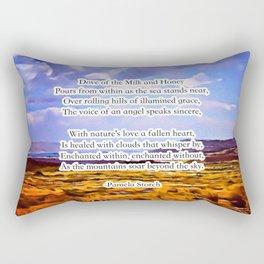 Dove of the Milk & Honey Poem Rectangular Pillow