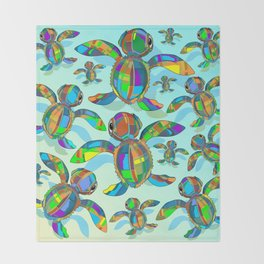 Baby Sea Turtle Fabric Toy Throw Blanket