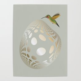 Hummingbird and Bubble Poster